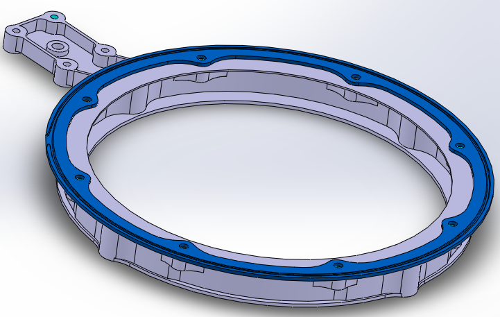 3D drawing of heating ring